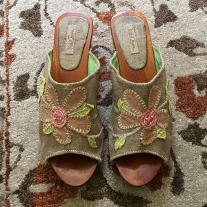 Vintage Anthropologie Heeled Sandals